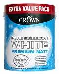 Crown Brilliant White Matt Emulsion интерьерная краска